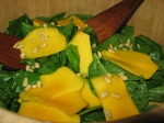 Egg Picante & Spinach-mango salad etc. 019