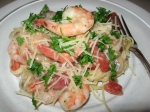 pasta with herbed shrimp