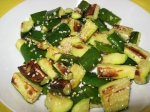 roast zucchini with toasted sesame seeds 001