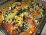 melange of oven baked veggies