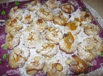 marmalade drops with almonds and powder sugar
