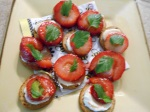 strawberries on crackers